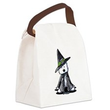 Witchy Westie Canvas Lunch Bag