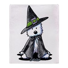 Witchy Westie Throw Blanket