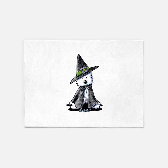 Witchy Westie 5'x7'Area Rug