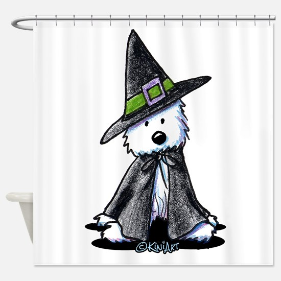 Witchy Westie Shower Curtain