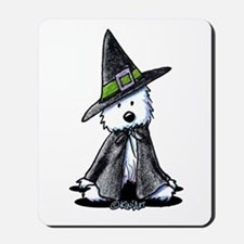 Witchy Westie Mousepad