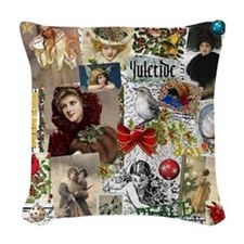 Yuletide Woven Throw Pillow