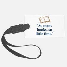 So many books - Luggage Tag