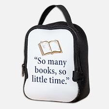 So many books - Neoprene Lunch Bag