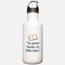 So many books - Water Bottle
