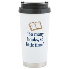 So many books - Travel Mug