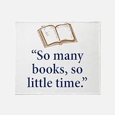 So many books - Throw Blanket