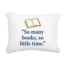 So many books - Rectangular Canvas Pillow