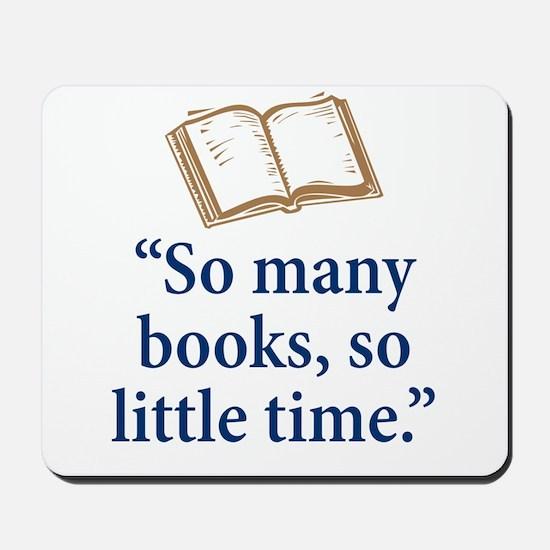 So many books - Mousepad