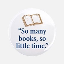 "So many books - 3.5"" Button (100 pack)"