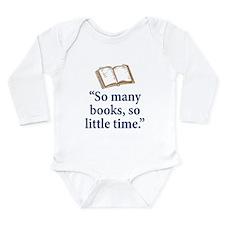 So many books - Long Sleeve Infant Bodysuit