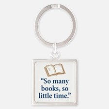So many books - Square Keychain