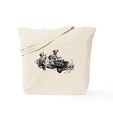 Dalmatians in a Fire truck Tote Bag