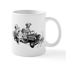 Dalmatians in a Fire truck Mugs
