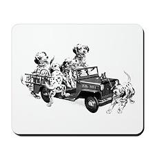 Dalmatians In A Fire Truck Mousepad
