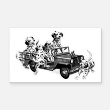 Dalmatians in a Fire truck Rectangle Car Magnet