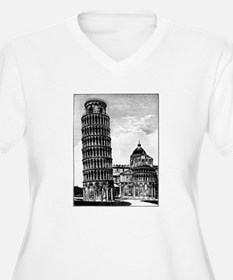 Leaning Tower of Pisa Plus Size T-Shirt