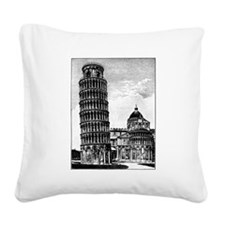 Leaning Tower of Pisa Square Canvas Pillow