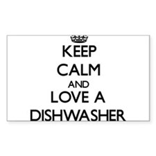 Keep Calm and Love a Dishwasher Decal