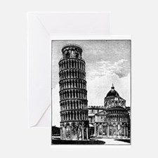 Leaning Tower of Pisa Greeting Cards
