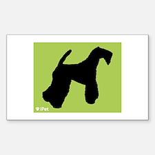 Terrier iPet Rectangle Decal