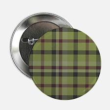 """Olive Green Plaid Kilt Tartan Print 2.25"""" Button"""