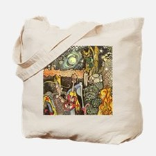 Home On The Range Cowboy InThe Desert At  Tote Bag
