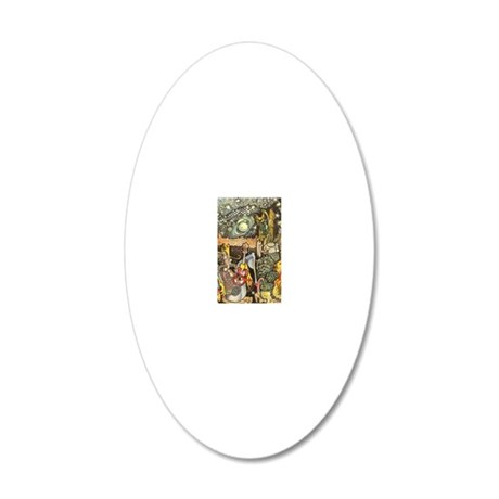 Home On The Range Cowboy InT 20x12 Oval Wall Decal