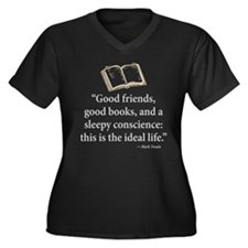Good Friends, Good Books - Women's Plus Size V-Nec