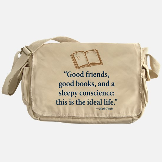 Good Friends, Good Books - Messenger Bag