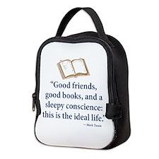 Good Friends, Good Books - Neoprene Lunch Bag