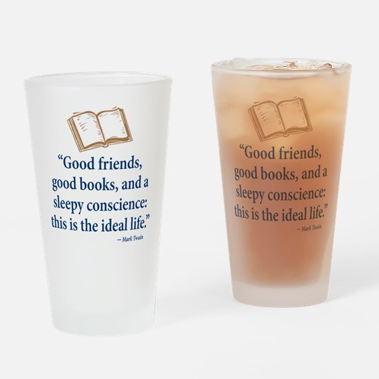 Good Friends, Good Books - Drinking Glass