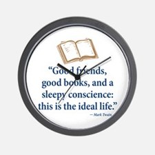 Good Friends, Good Books - Wall Clock