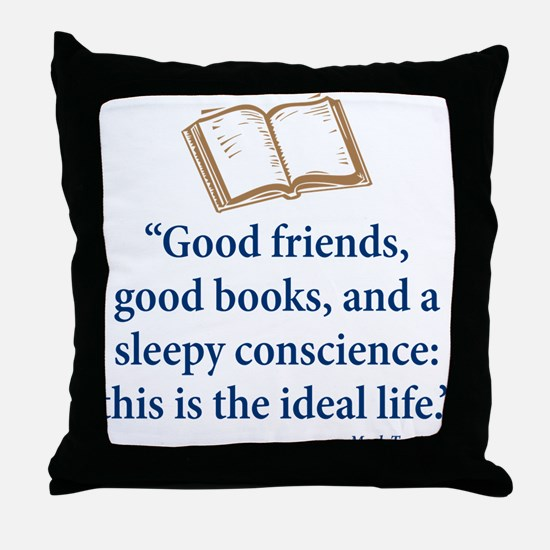 Good Friends, Good Books - Throw Pillow
