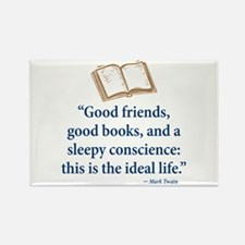 Good Friends, Good Books - Rectangle Magnet