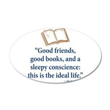 Good Friends, Good Books - Wall Decal