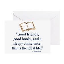 Good Friends, Good Books - Greeting Card