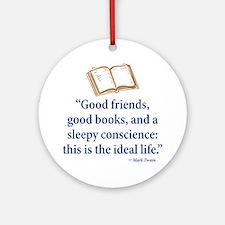 Good Friends, Good Books - Ornament (Round)