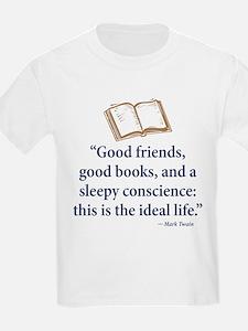 Good Friends, Good Books - T-Shirt