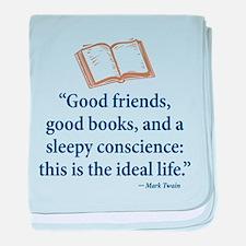 Good Friends, Good Books - baby blanket