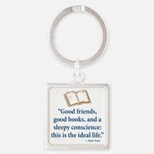 Good Friends, Good Books - Square Keychain