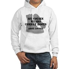 Army Cousin wears CB Hoodie
