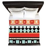 Blue native pattern Duvet Covers