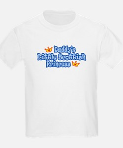Daddy's Little Scottish Princess Kids T-Shirt