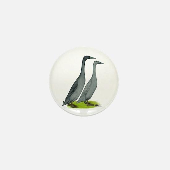 Runner Ducks Blue Mini Button