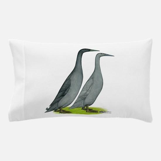 Runner Ducks Blue Pillow Case