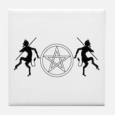 Pentacle Pan Tile Coaster