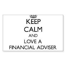 Keep Calm and Love a Financial Adviser Decal