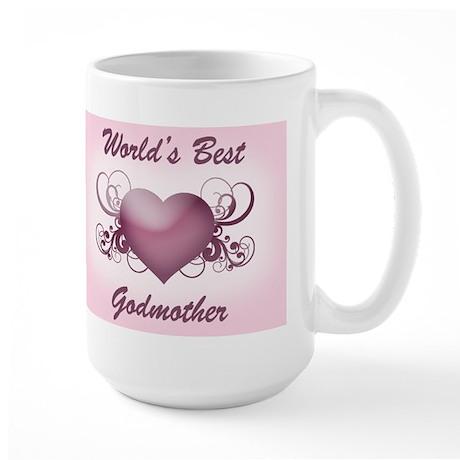 World's Best Godmother (Heart) Large Mug