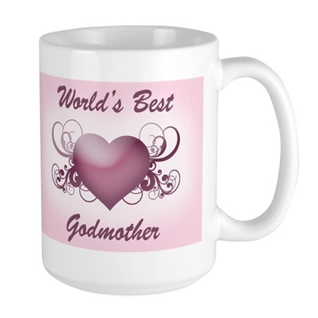 World's Best Godmother (Heart) Large Mug